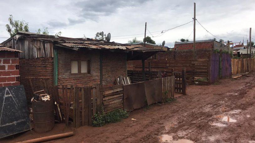 El temporal castigó con fuerza a viviendas precarias en asentamientos