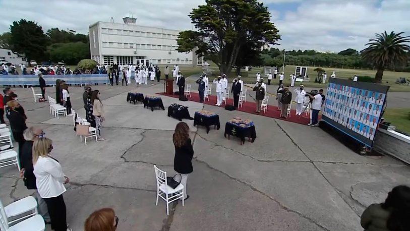 ARA San Juan: realizaron un homenaje a los 44 tripulantes