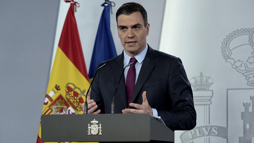 """España: Sánchez aseguró que se está """"en el principio del fin de la pandemia"""""""