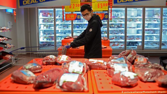 China detecta coronavirus en envases de carne de Argentina
