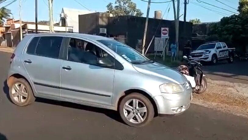 Choque en avenida Mariano Moreno