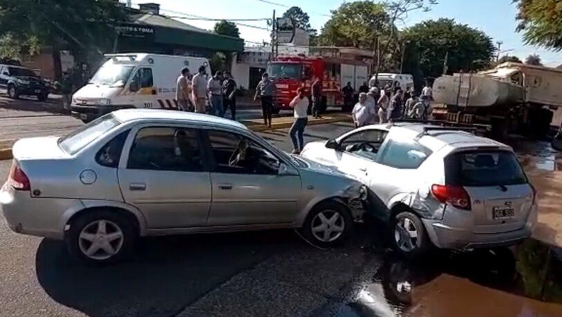 Múltiple choque en avenida San Martín