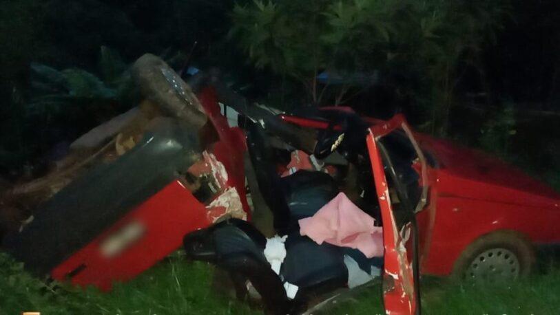 Panambí: tres lesionados tras despiste y vuelco