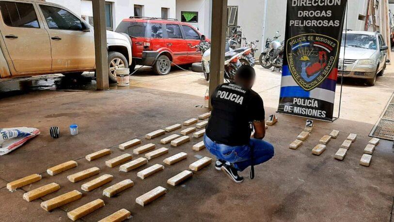Ocultaron 40 kilos de droga bajo el puente de arroyo La Chancha