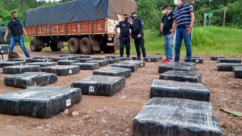 Narcotráfico: secuestraron 3,5 toneladas de marihuana en Puerto Piray