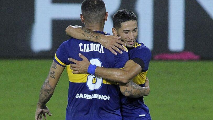 El golazo de Cardona en el empate de Boca