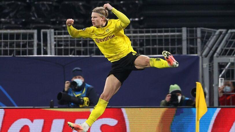 Champions League: Haaland convirtió por duplicado y el Dortmund eliminó al Sevilla