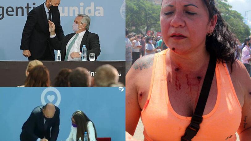 #8M: Gildo recibió el apoyo de Alberto tras la represión a las protestas en Formosa