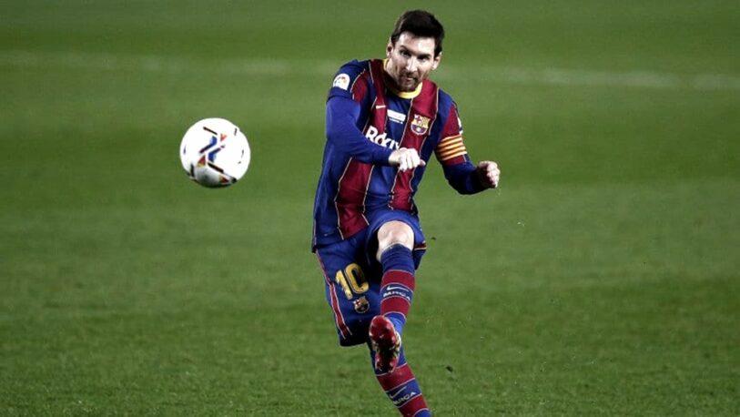 Golazo de tiro libre de Messi contra Valencia
