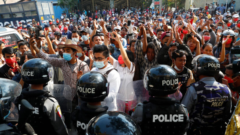 La ONU condenó la matanza en la represión a protestas en Myanmar