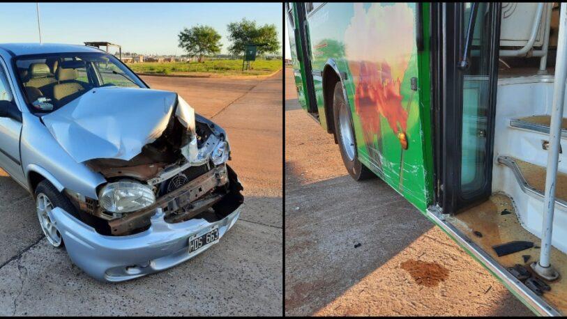 Otra vez en Itaembé Guazú: un auto chocó a un colectivo