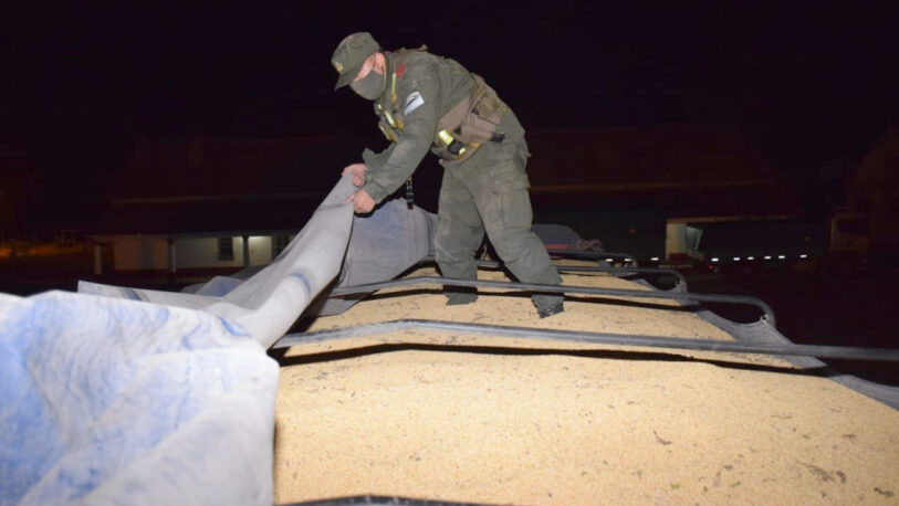 Contrabando de soja: Hay civiles y uniformados detenidos