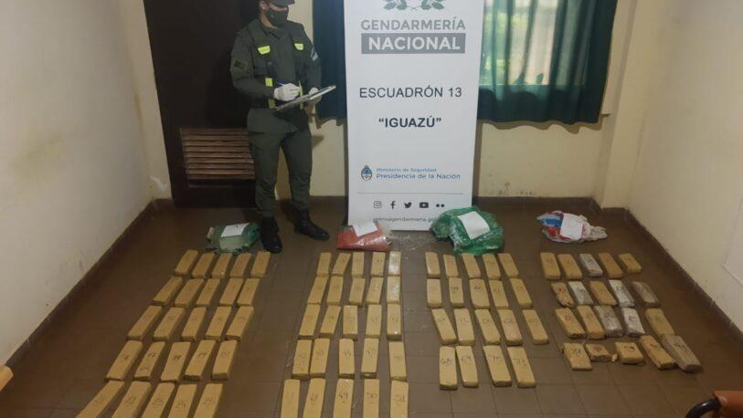 Descubrieron más de 55 kilos de marihuana a orillas del Río Paraná