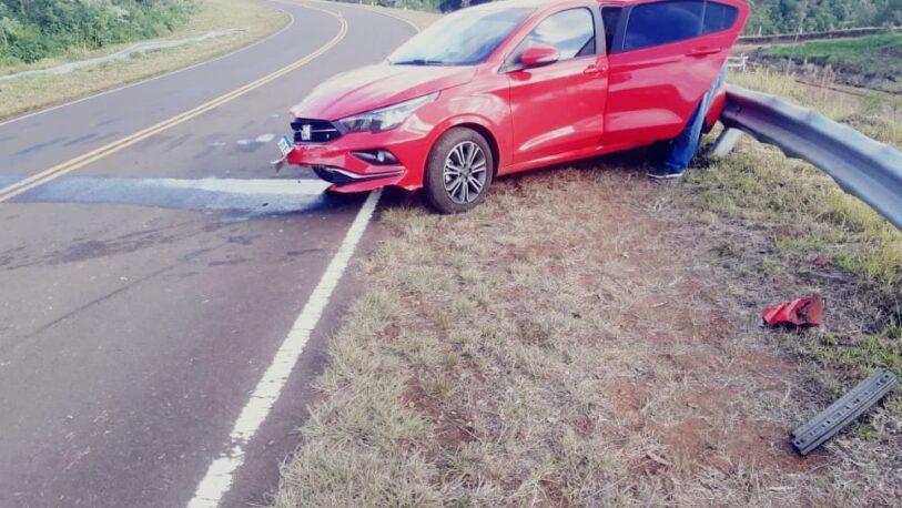 Automovilista despistó en la ruta 3