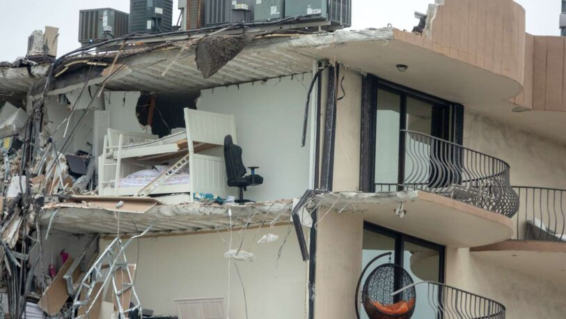 Impactante video: así fue el momento del derrumbe