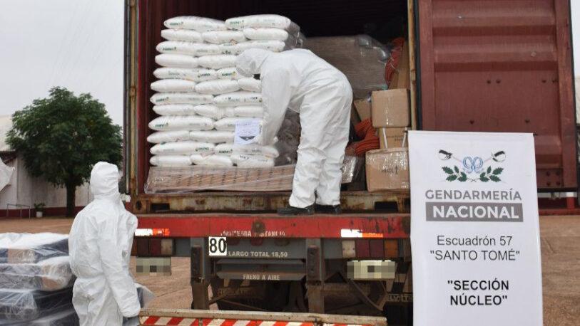 Santo Tomé: decomisan 1.500 kilos de hidróxido de sodio