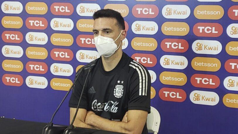 """Lionel Scaloni: """"Me preocupa el estado físico de algunos jugadores"""""""
