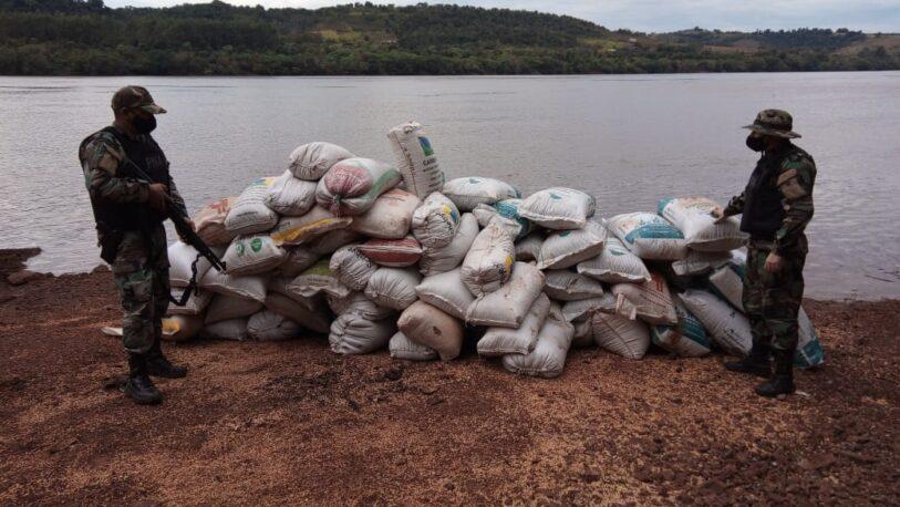 Secuestran un cargamento de más seis toneladas de soja