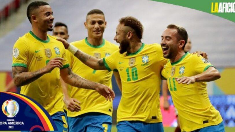 Brasil goleó a Venezuela en el comienzo de la Copa América 2021