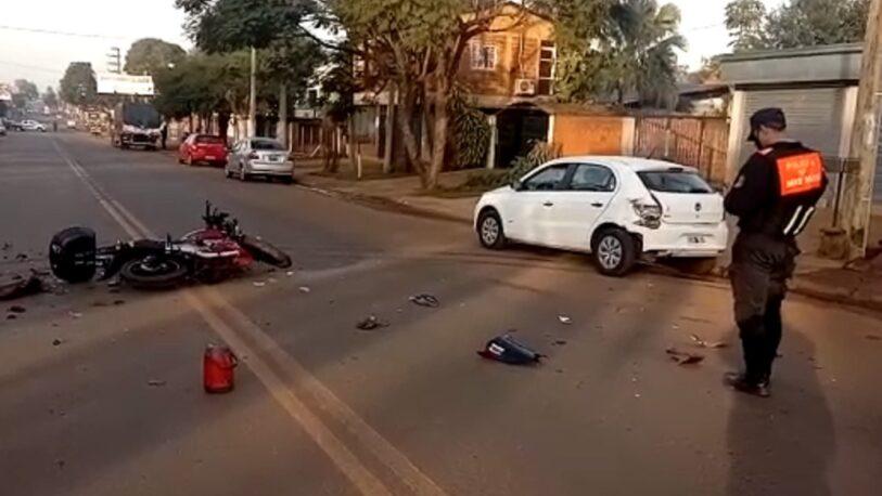 Motociclista herido en un choque sobre avenida Cocomarola