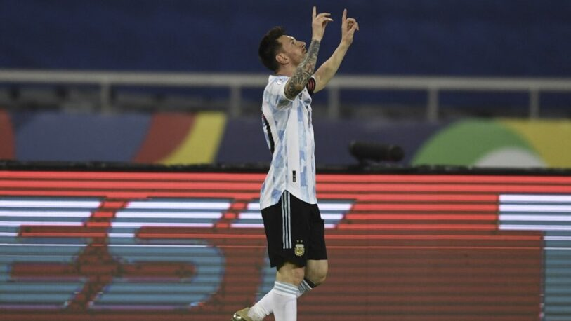Con un golazo, Messi abrió la cuenta ante Chile