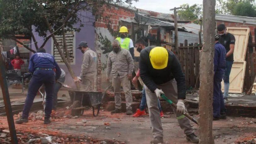 Tras las denuncias públicas, reconstruyen la casa incendiada en Chacra 252