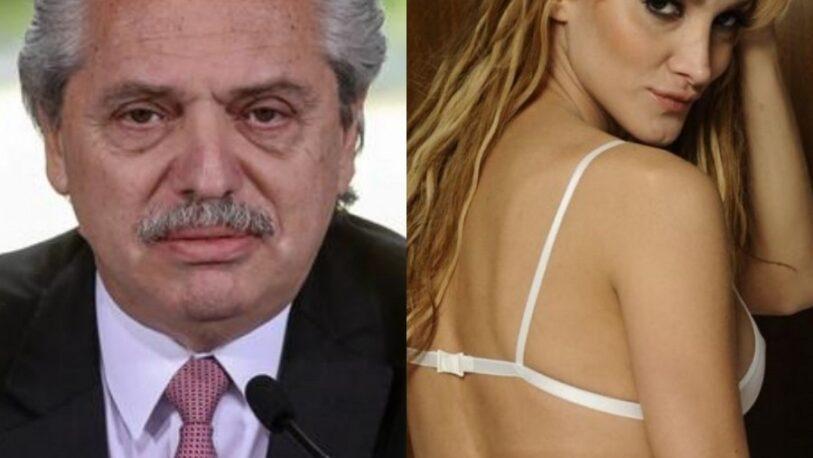 Denuncian penalmente a Alberto Fernández y a la modelo Sofía Pacchi