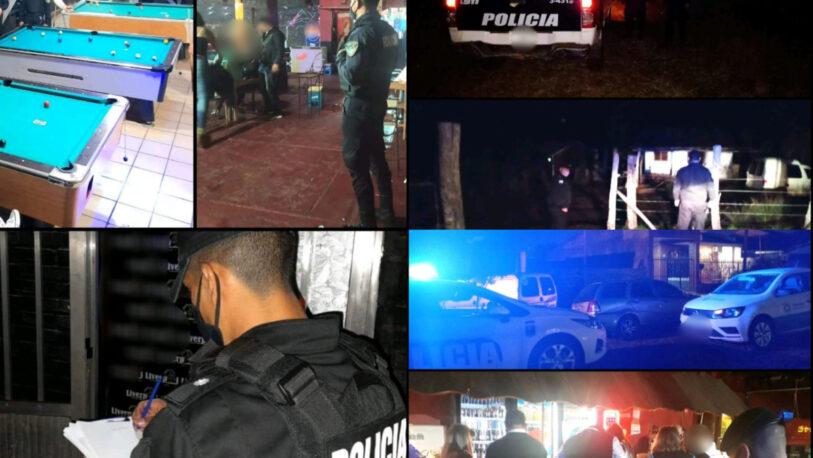 Clausuras de bares y fiestas clandestinas en la Provincia
