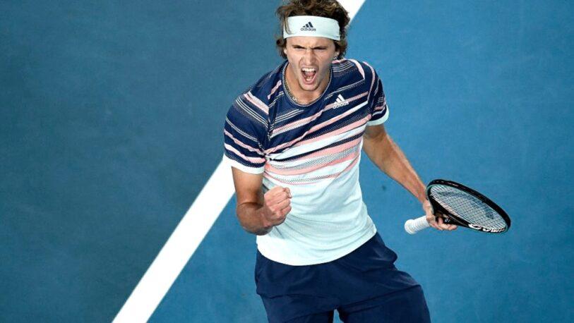 Djokovic cayó en semifinales ante Zverev