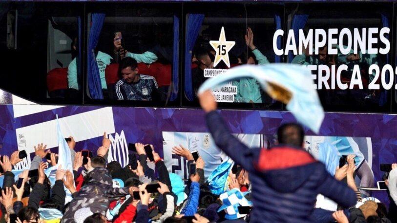 El regreso triunfal de los campeones de la Copa América