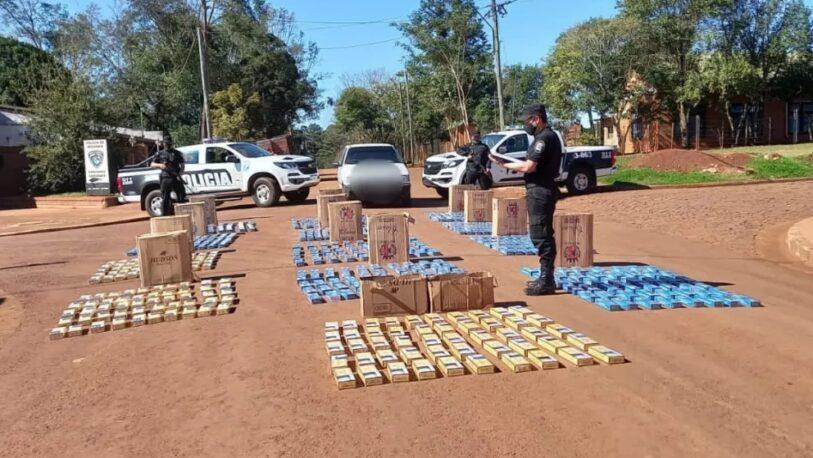 Incautaron un vehículo con más de 640 gruesas de cigarrillos