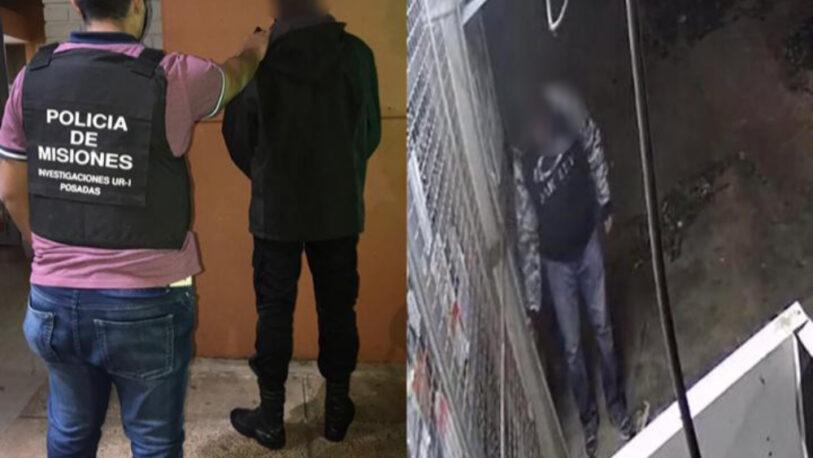 Intentó robar en un comercio, quedó registrado en cámaras de seguridad y fue detenido