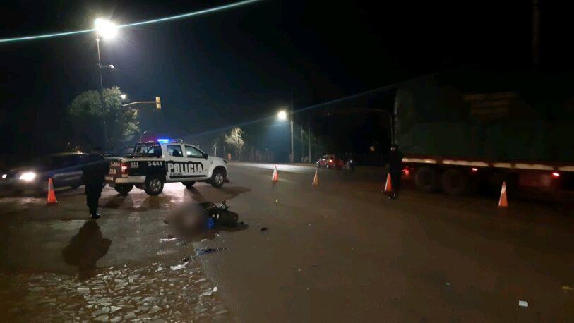 Motociclista de 14 años murió tras un choque en la Ruta Provincial Nº19