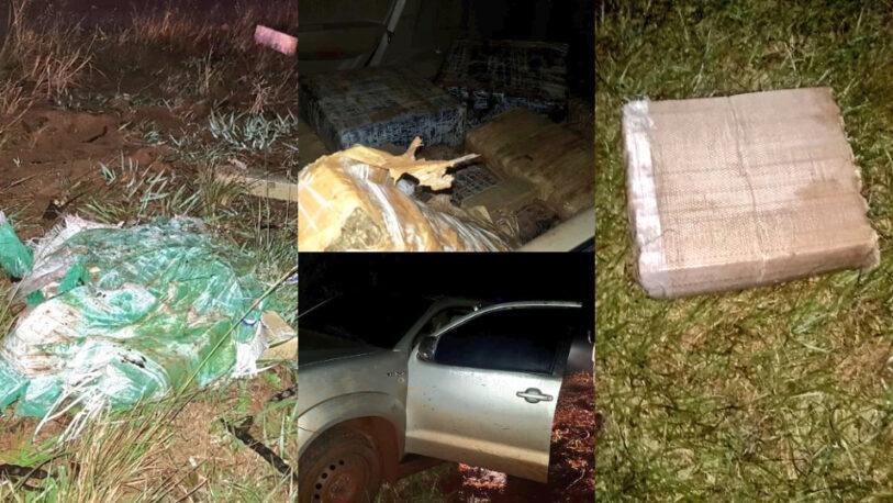 Operativo entre Garuhapé y Caraguatay: incautaron dos vehículos con marihuana