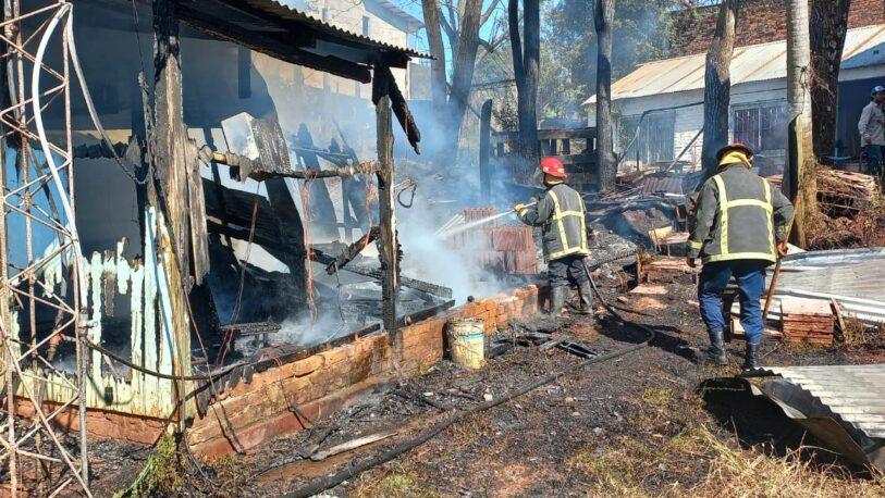 Se quemó una casa en el barrio Tuichá de Oberá