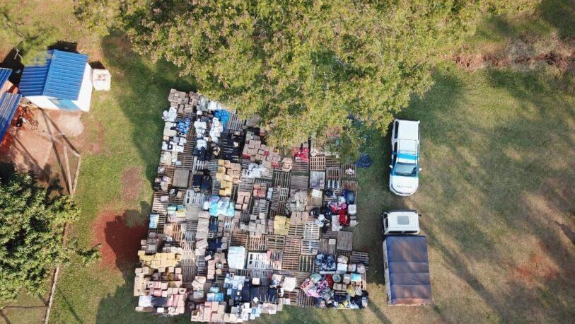 Detienen a 83 personas y secuestran millonario cargamento de mercadería ilegal