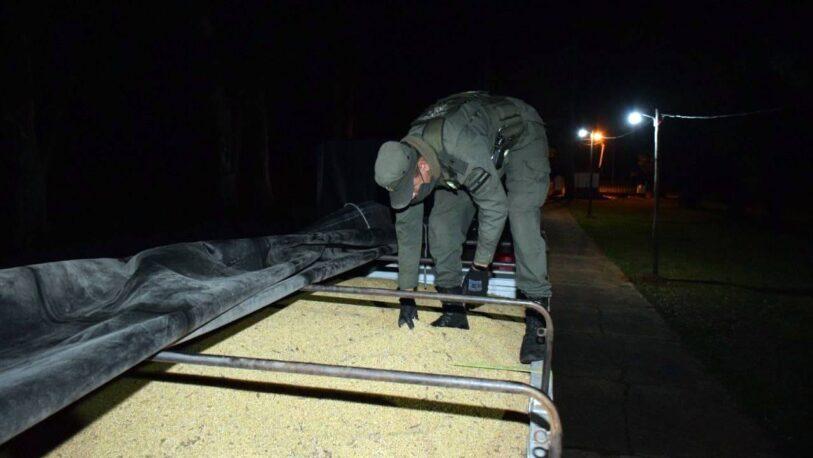 Trasladaban 57 toneladas de soja en dos camiones