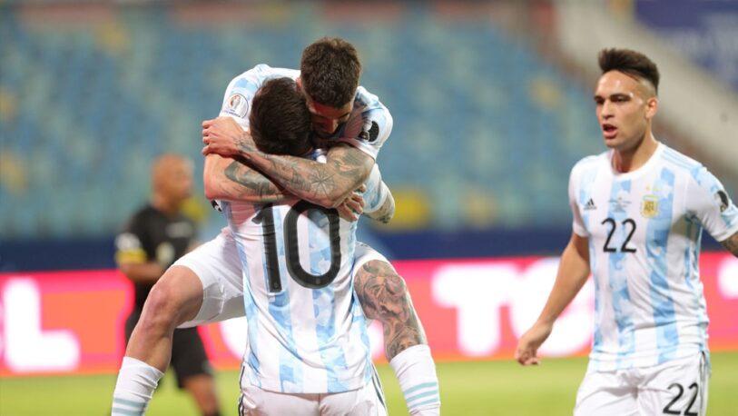 Argentina, con gol de Messi, derrotó a Ecuador y clasificó a semifinales