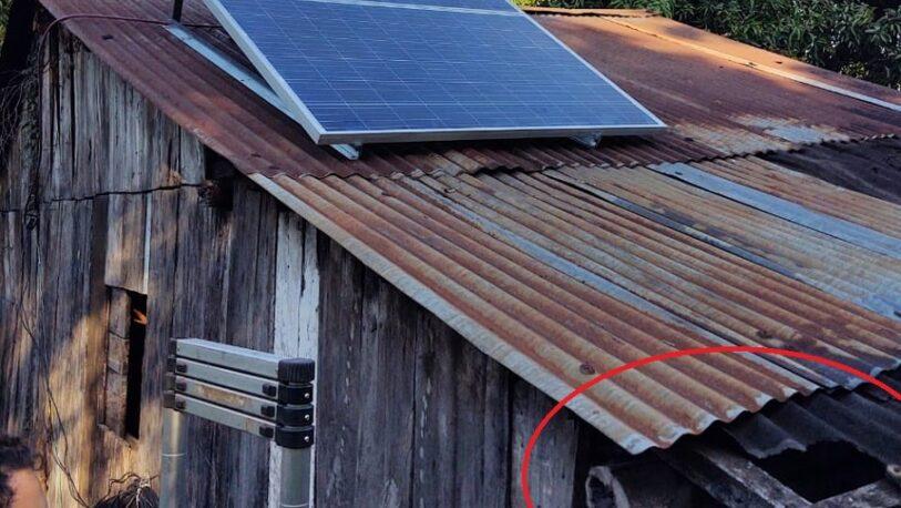 Cerro Azul: el techo agujereado, pero con energía solar