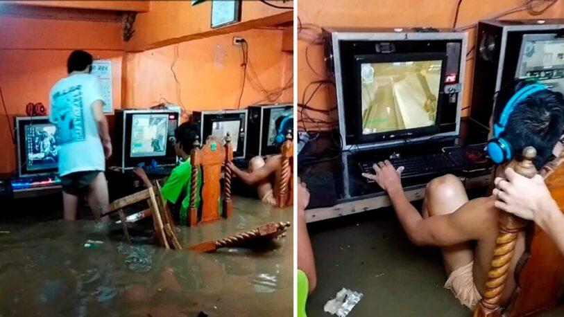 Filipinas: gamers no pararon de jugar ni en pleno tifón