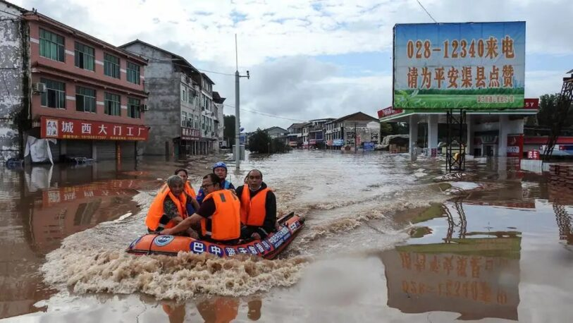 Inundaciones en China: al menos 12 muertos y 100 mil evacuados