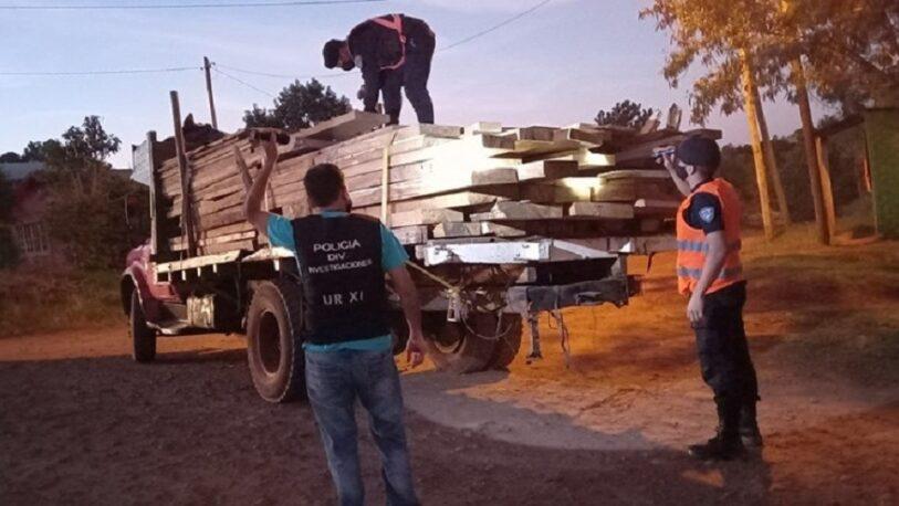Aristóbulo del Valle: tres detenidos por el robo de madera nativa