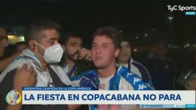 Confesó por TV que cruzó ilegalmente a Brasil por Misiones para ver a la Selección