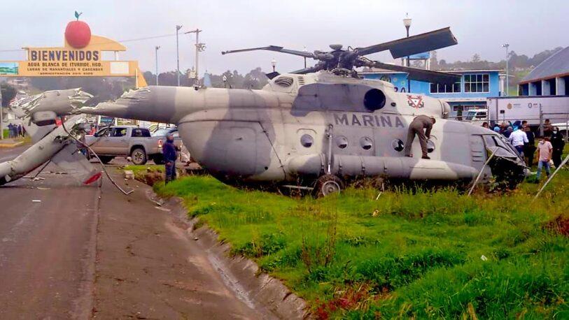 México: se cayó el helicóptero del secretario de la gobernación de Veracruz