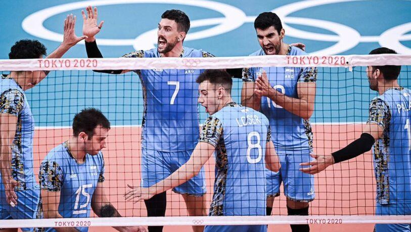 Vóley: Argentina venció a EEUU y clasificó para los cuartos de final de Tokio 2020