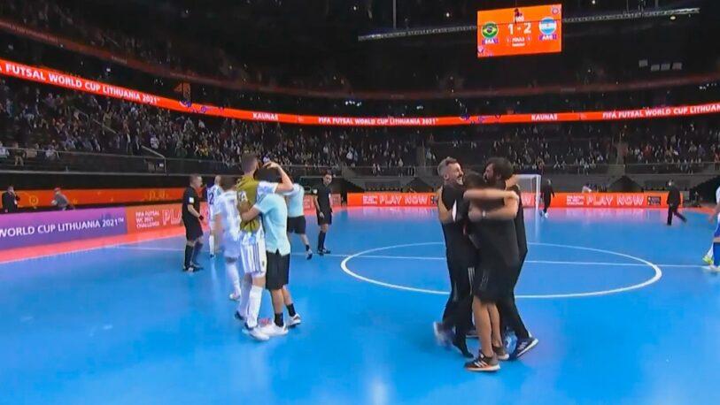 Argentina le ganó a Brasil y es finalista del Mundial de futsal