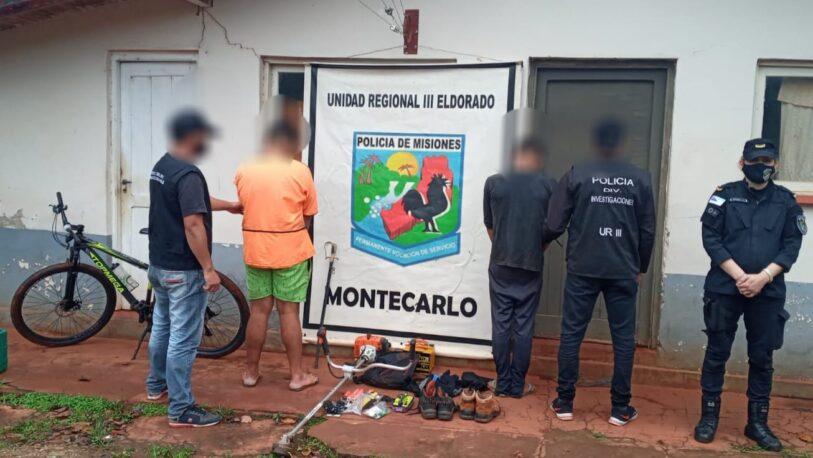 Cayeron tres jóvenes que desvalijaron una casa en Montecarlo