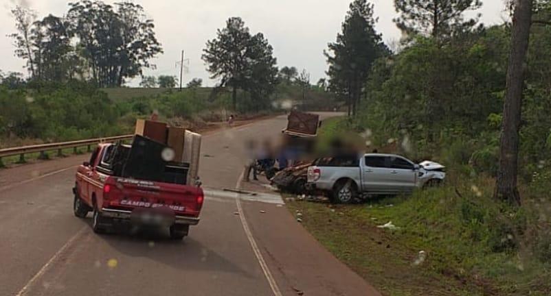 Choque fatal en ruta 13 a la altura de San Vicente