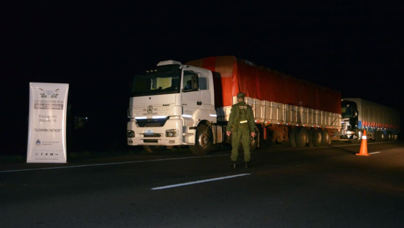 Corrientes: controlan tres camiones que trasladaban 90 toneladas de soja