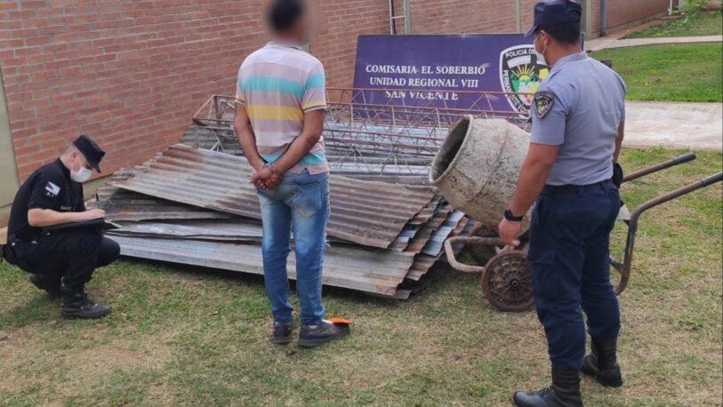 Cuidador robó y vendió materiales de un complejo de cabañas